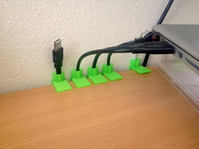 impresora 3d casa sujetacables